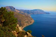 Славная береговая линия в Греции стоковое фото rf