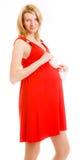 славная беременная женщина Стоковая Фотография RF