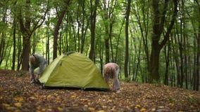 Славная выбытая отделка пар настраивая шатер видеоматериал