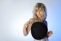 Славная девушка с шлемом Стоковое Изображение RF