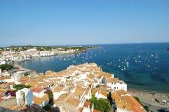 Славная деревня Cadaqués стоковое фото rf