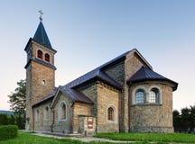 Славная католическая церковь в Восточной Европе - селе Babin - Orava Стоковое Изображение