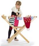 Славная маленькая девочка играя с Стоковая Фотография