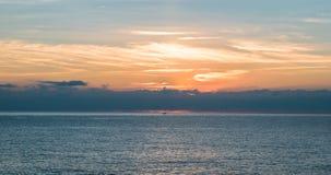 Славная пасмурная сцена восхода солнца Стоковое Изображение RF