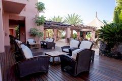 Славная среднеземноморская терраса стоковая фотография rf