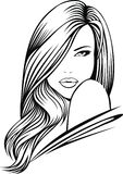 славное девушки головное Стоковое Изображение RF