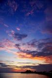 Славное небо захода солнца Стоковые Изображения