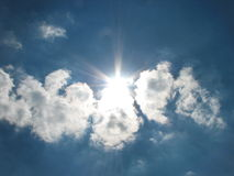 славное солнце Стоковое фото RF