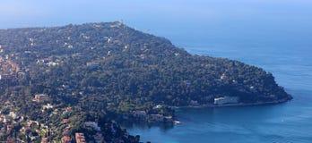 Славное ` Azur французской ривьеры, CÃ'te d, среднеземноморское побережье, Eze, St Tropez, Канн и Монако Яхты открытого моря и ро стоковые изображения