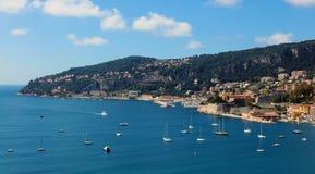 Славное ` Azur Fench riviera, CÃ'te d, среднеземноморское побережье, Eze, St Tropez, Канн и Монако Яхты открытого моря и роскоши стоковое фото