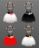 Славные платья коктеиля иллюстрация штока