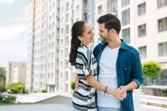 Славные счастливые пары танцуя совместно Стоковое фото RF
