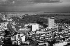 Славный взгляд города стоковое фото