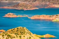 Славный взгляд резервуара Nurek в Таджикистане Стоковые Изображения