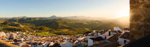 Славный заход солнца от Olvera, diz ¡ CÃ стоковые изображения rf