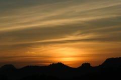 славный заход солнца Стоковые Фотографии RF