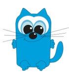 Славный квадратный кот.   Стоковая Фотография