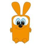 Славный квадратный кролик.   Стоковые Изображения RF