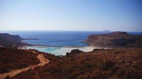 Славный ландшафт лагуны Balos Стоковое фото RF