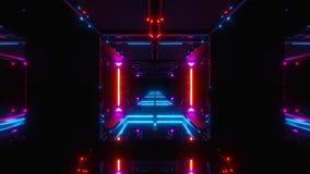 Славный накаляя тоннель космоса scifi иллюстрация штока