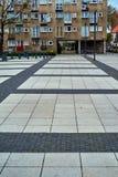 Славный современный взгляд квадрата Nowy Targ в городке Wroclaw старом Wroclaw самый большой город в западной Польше стоковые фото