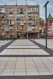 Славный современный взгляд квадрата Nowy Targ в городке Wroclaw старом Wroclaw самый большой город в западной Польше стоковое изображение rf