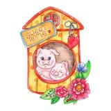 Сладкая домашняя piggy иллюстрация изолированная на белой предпосылке стоковая фотография
