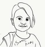 Сладкая маленькая девочка бесплатная иллюстрация