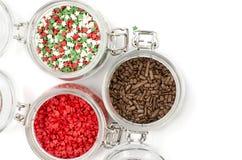 Сладкие пестротканые ингредиенты для украшать пирожные стоковые изображения