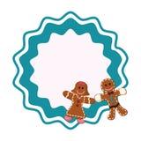 Сладкие печенья имбиря пар иллюстрация штока