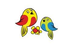 Сладкие птицы конструируют вектор иллюстрация вектора