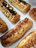 Сладкие тросточки в пекарне стоковое изображение