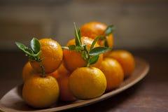 Сладкий апельсин, китайский фестиваль весны, спасибо дань, везение хиа Fu большое, стоковое фото