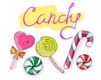Сладкий набор конфет с надписью r бесплатная иллюстрация
