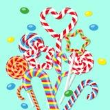 Сладостная конфета в форме сердца Дизайн для ваших вебсайта или рекламы бесплатная иллюстрация