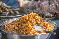 Сладостная креветка, надувательство на еде улицы Yaowarat, Таиланда Стоковая Фотография RF