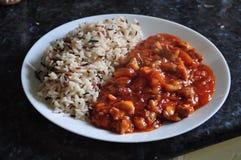 Сладостное и кислое главное блюдо с смешанным рисом Стоковая Фотография