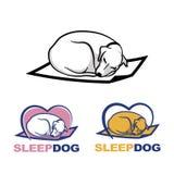 Сладостно спящ на циновке иллюстрация вектора
