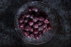 Сладостные и замороженные вишни Стоковое Изображение RF