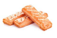 Сладостные печенья на белой предпосылке Стоковое Изображение RF