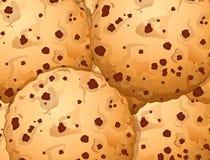 Сладостные печенья обломока choco с шоколадом ставят точки иллюстрация вектора Стоковые Фото