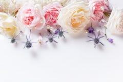 Сладостные розы ткани цвета в мягком стиле для предпосылки Стоковое Фото