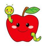 Сладостный глист Apple Стоковые Фото