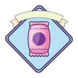 Сладостный значок конфеты иллюстрация штока
