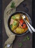 Сладостный перец заполненный с мясом Стоковое Изображение