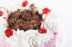 Сладостный торт с обломоком вишни и шоколада Стоковое Изображение