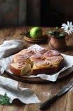 Сладостный Rolls с ванильной сливк печенья Стоковое Изображение