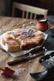 Сладостный Rolls с ванильной сливк печенья Стоковая Фотография RF