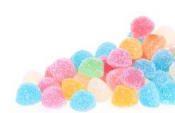 сладость студня конфеты цветастая изолированная Стоковая Фотография