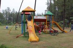 Слайдер парка для играть childs - Индию Стоковая Фотография RF